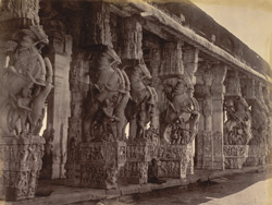 Temple carvings, Srirangam, Trichinopoly